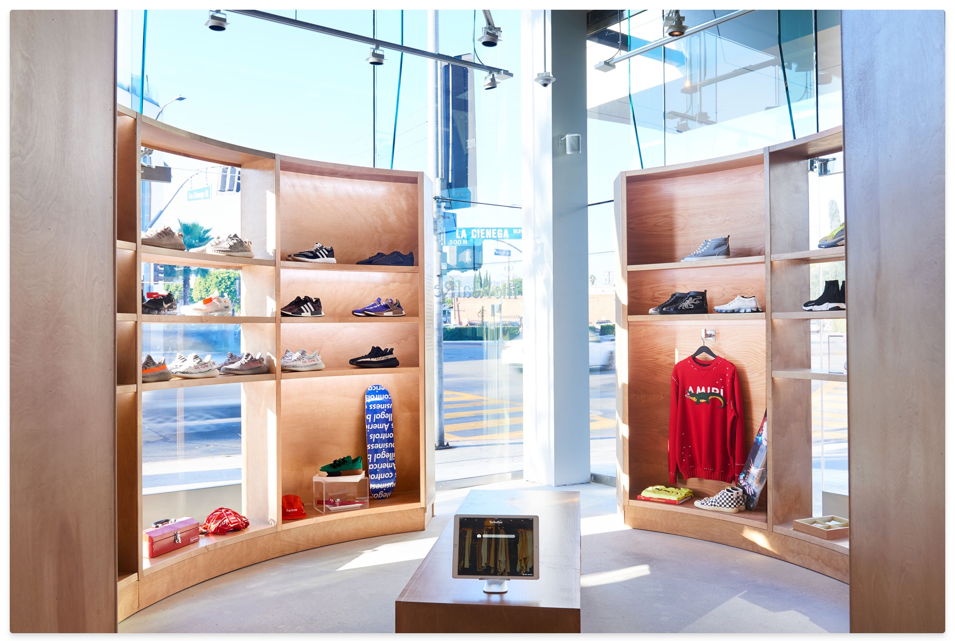 Inside the RealReal store