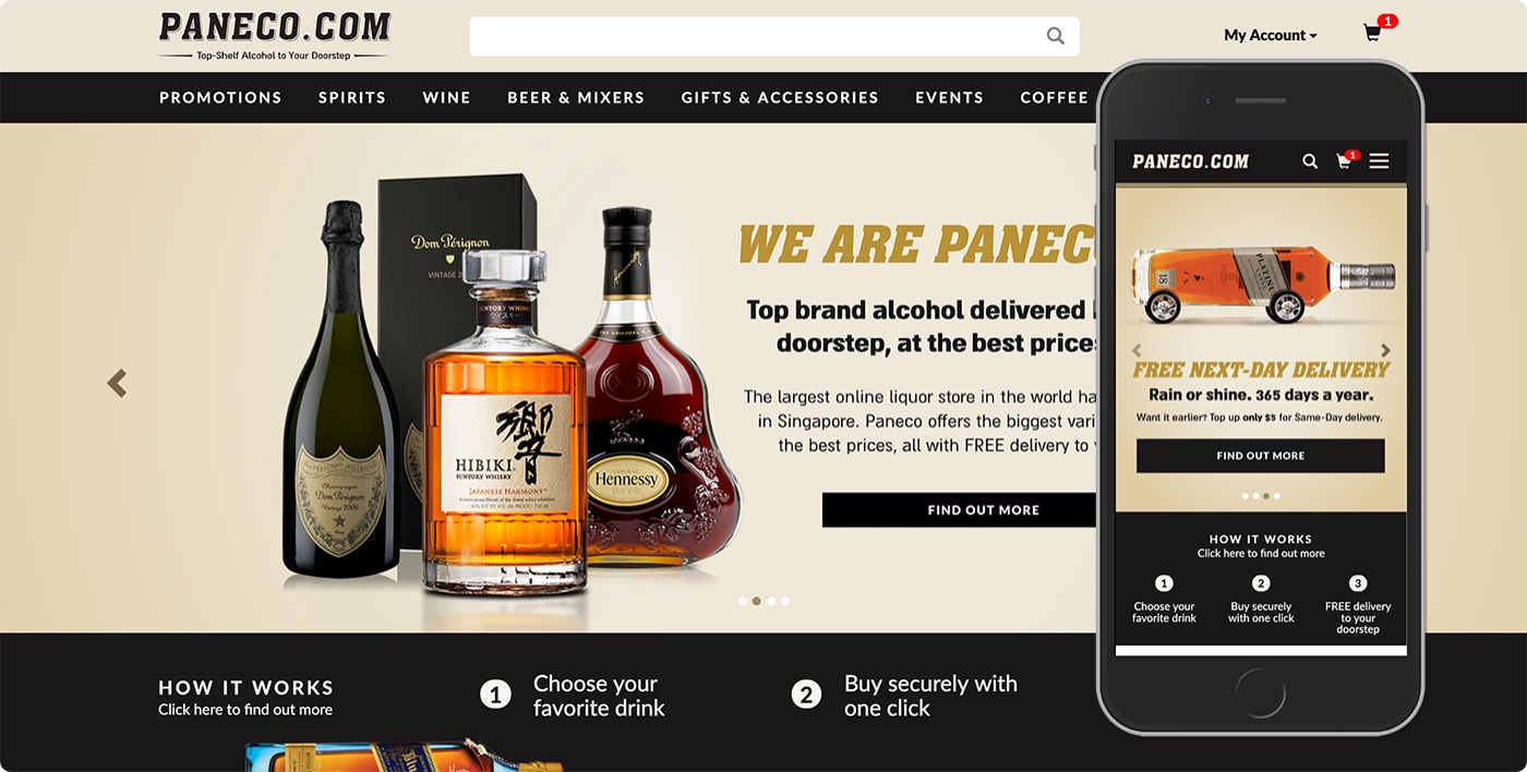 The Paneco.com homepage