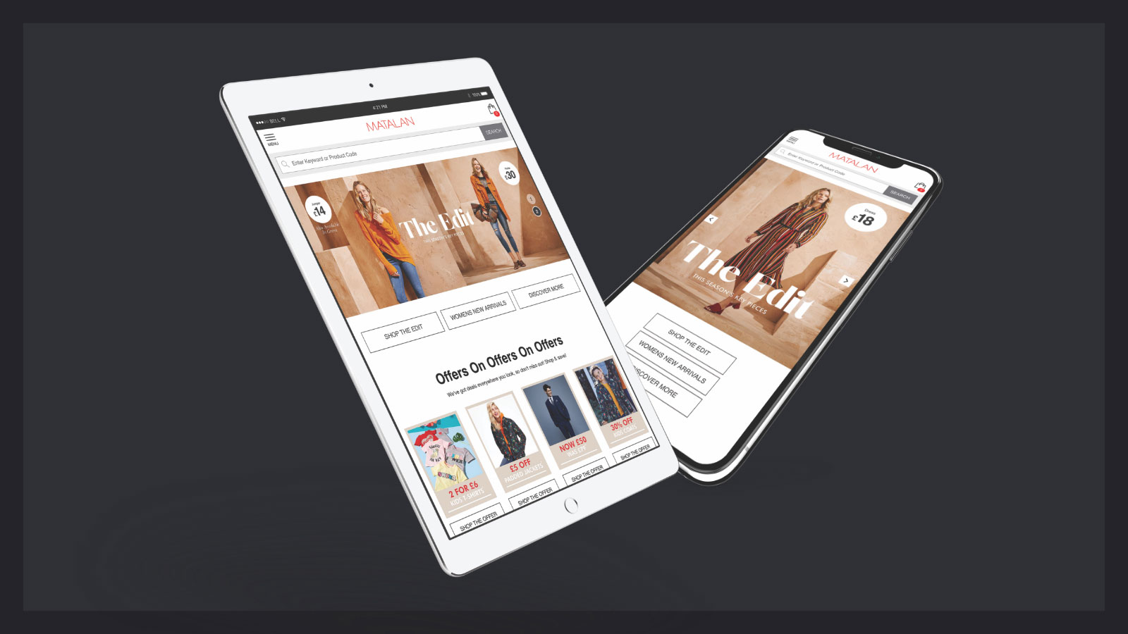 Matalan website on mobile