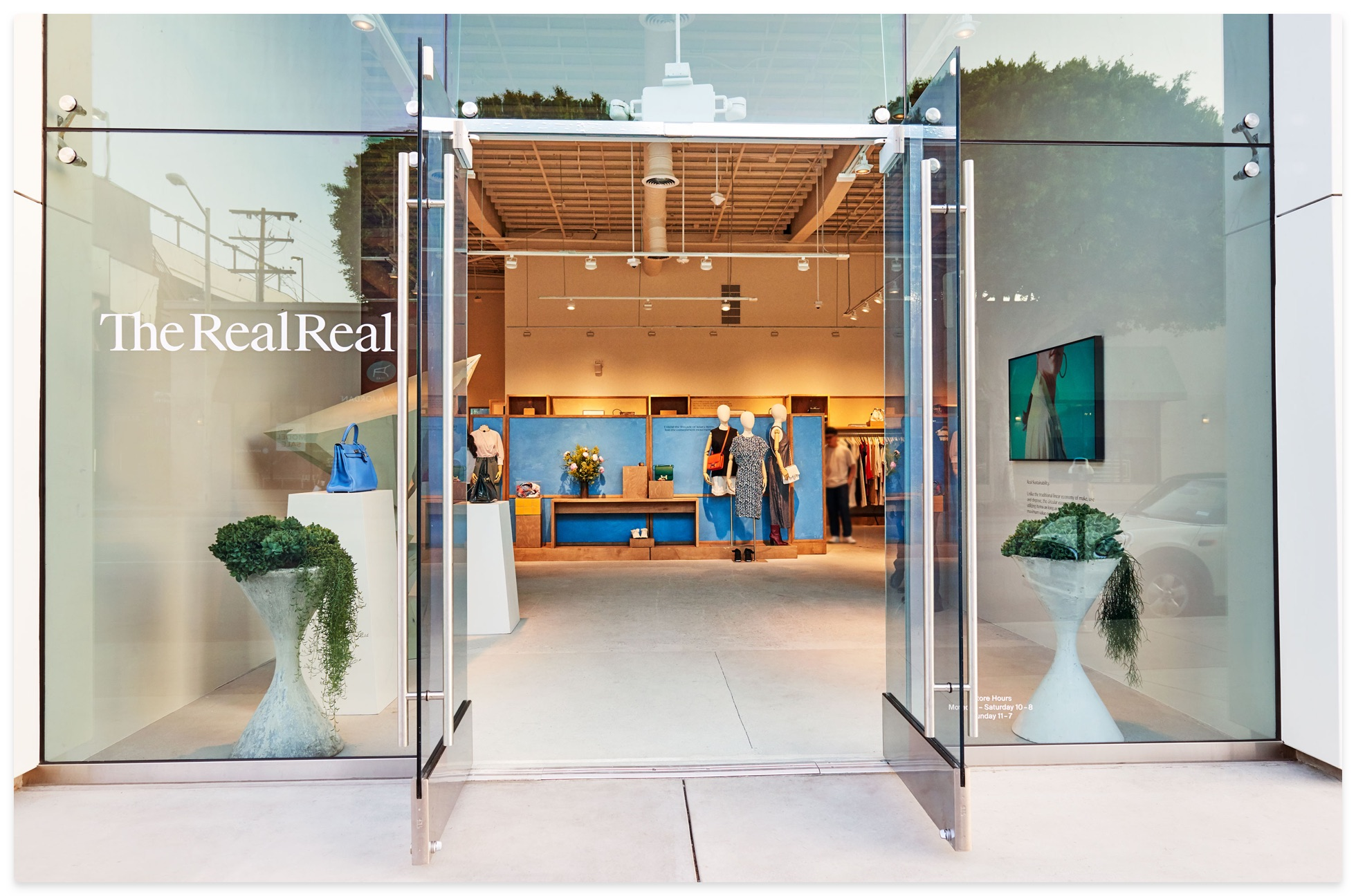 The entrance of The RealReal store
